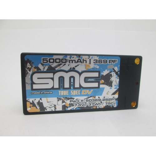 SMC True Spec DV 7.4V 5000mAh 75C shorty inboard 5mm hardcase (50390-2S2P)