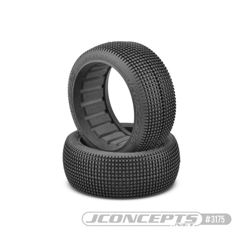 JConcepts Stalkers 1/8 Buggy Tire (2) (Red2 - Long Wear) (JCO3175-R2)