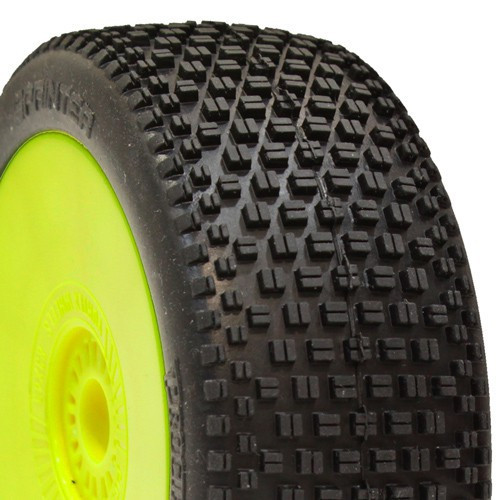 ProCircuit Sprinter Buggy Tires (P1) Super Soft- Pre-Mounted (Yellow) (2) (PCY1011-P1)