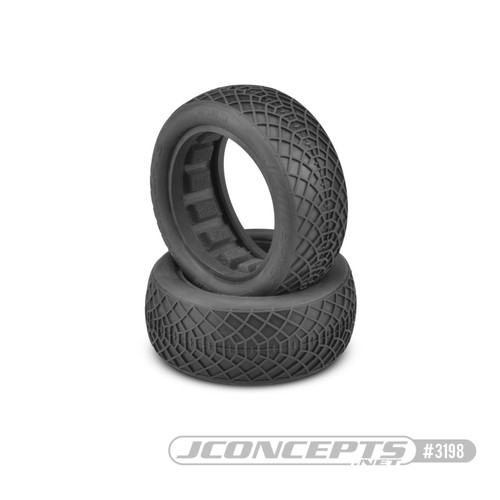 "JConcepts Ellipse 2.2"" Front 1/10 Buggy 4wd Buggy Tires (2) (Silver) (JCO3198-06)"