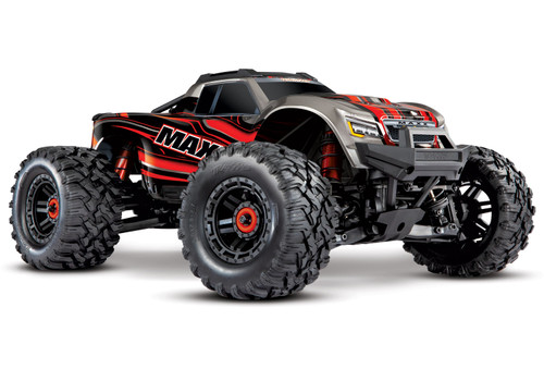 Traxxas Maxx 1/10 Scale 4WD Brushless Electric Monster Truck (4s) (Red)