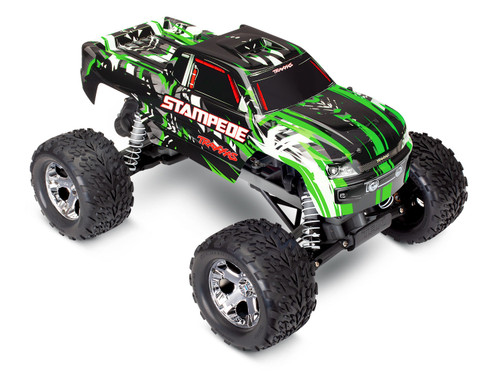 TRAXXAS Stampede 1/10 RTR Monster Truck w/XL-5 ESC, TQi 2.4GHz Radio (No Battery or Charger) (Green)