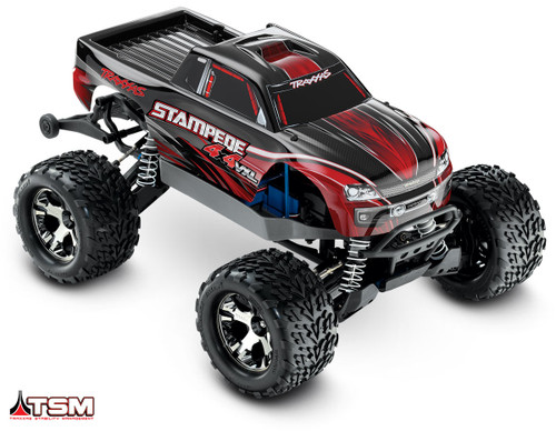 TRAXXAS Stampede 4X4 VXL Brushless 1/10 4WD RTR Monster Truck w/TQi, TSM & iD Battery (Red)