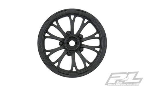 "Pro-Line 2WD Pomona Drag Spec 2.2"" Front Drag Racing Wheels (2) w/12mm Hex (Black) (PRO2775-03)"