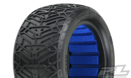 "Pro-Line Resistor 2.2"" Off-Road Buggy Rear Tires for 2.2"" 1:10 Rear Buggy Wheels, Includes Closed Cell Foam (PRO8281-17)"