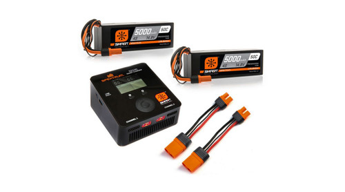 Spektrum RC Smart PowerStage 8S Bundle w/Two 4S Smart LiPo Hard Case Batteries