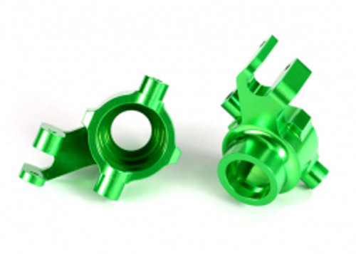 Traxxas Steering blocks, 6061-T6 aluminum (green-anodized), left & right (TRA8937G)