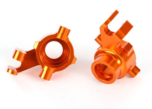 Traxxas Steering blocks, 6061-T6 aluminum (orange-anodized), left & right (TRA8937A)