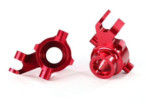Traxxas Steering blocks, 6061-T6 aluminum (red-anodized), left & right (TRA8937R)