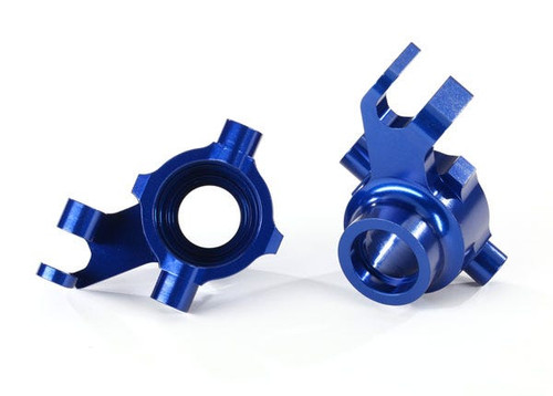 Traxxas Steering blocks, 6061-T6 aluminum (blue-anodized), left & right (TRA8937X)