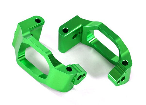 Traxxas Caster blocks (c-hubs), 6061-T6 aluminum (green-anodized), left & right (TRA8932G)