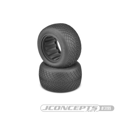 "JConcepts Ellipse 2.2"" 1/10 Stadium Truck Tires (2) (Silver) (JCO3199-06)"