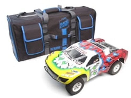 RACERS EDGE SC RACECASE ULTIMATE TRANSPORTER BAG IN BLUE TRIM (RCE2028A)