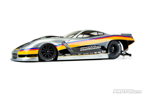 Protoform Chevrolet Corvette C7 1/10 Pro-Mod Short Course Drag Car Body (Clear)