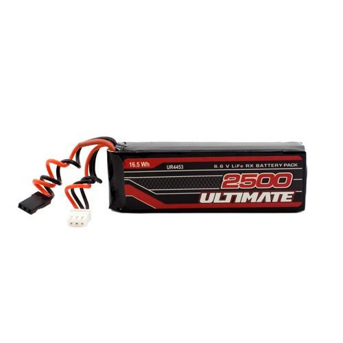 Ultimate Racing 6.6v 2500mAh LiEe Flat Receiver Pack (JR) (UR4453)
