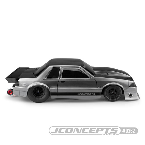 JConcepts 1991 Ford Mustang Fox Body Street Eliminator Drag Racing Body (Clear)