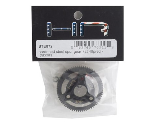 Hot Racing 48P Hardened Steel Spur Gear (Red) (72T)