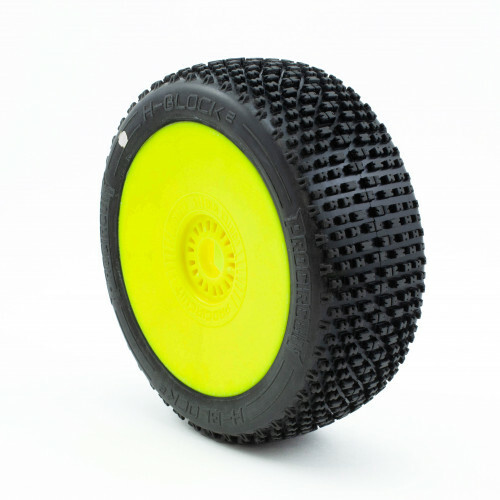 ProCircuit H-Block V2 Buggy Tires (C1) Super Soft - Pre-Mounted (Yellow) (2) (PCY2001-C1)