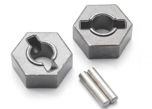 Traxxas Steel 14mm Hex Wheel Hubs w/2.5x12mm Axle Pins (2) (TRA4954R)