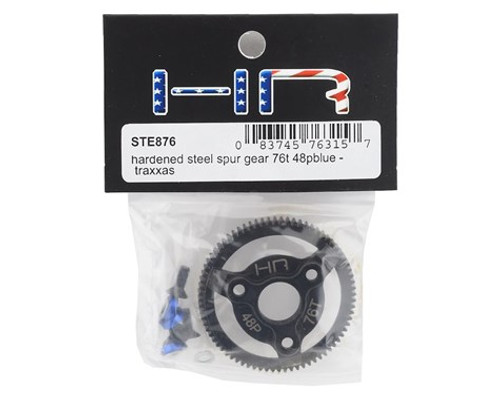 Hot Racing Traxxas 48P Hardened Steel Spur Gear (76T) (Blue)