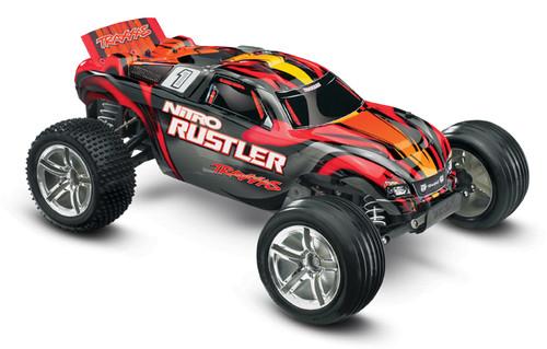 Traxxas Nitro Rustler 1/10 RTR Stadium Truck - RED