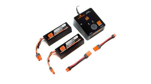 Spektrum RC Smart PowerStage 6S Bundle w/Two 3S Smart LiPo Hard Case Batteries
