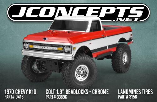 "JConcepts Colt 1.9"" Beadlock Wheel w/Cap (2) (Chrome)"
