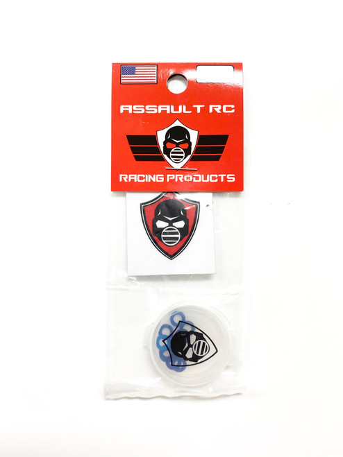 Assault RC Revolver M3x.5mm Ball Stud Washer Set (Blue) (10)