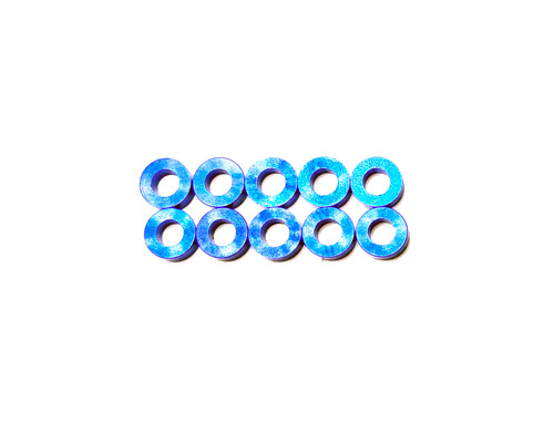 Assault RC Revolver M3x2mm Ball Stud Washer Set (Blue) (10)