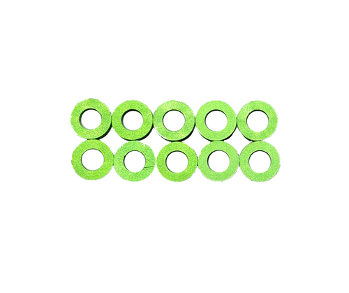 Assault RC Revolver M3x1mm Ball Stud Washer Set (Green) (10)