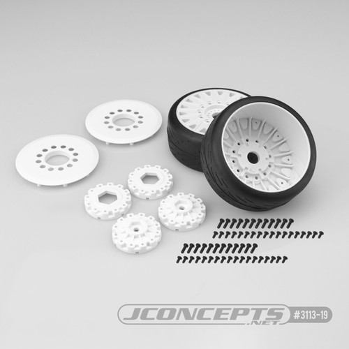 JConcepts Speed Fangs Belted Tire Pre-Mounted w/Cheetah Speed-Run Wheel (White) (JCO3113-19)