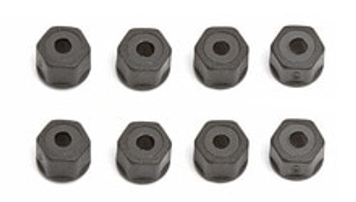 TEAM ASSOCIATED Self Threading Nylon Locknuts (8) (ASC6222)