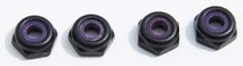8-32 Black Aluminum Low Profile Locknuts (4) (HD2517)