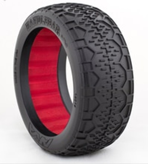AKA 1:8 HANDLEBAR TIRES W/RED INSERT - SUPER SOFT (AKA14014VR)