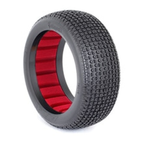 AKA CATAPULT 1:8 BUGGY TIRES (SOFT) W/ RED INSERTS (AKA140016SR)