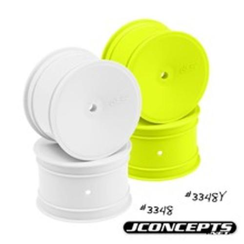 JCONCEPTS Mono 2.2 Rear Wheel w/12mm Hex (White) (4) (B6, B5, B5M, B4.2, B4.1)