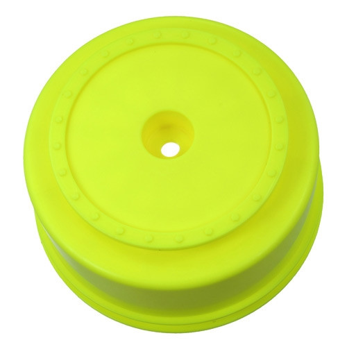 "DE RACING ""Borrego"" SC Hex Wheels w/+3mm Offset (2) (SC10 4x4) (Yellow)"