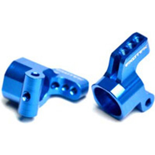 EXOTEK RACING Team Associated V2 Aluminum Rear Hubs (Blue)