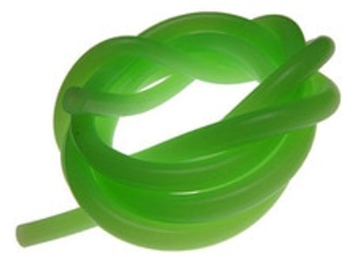 RACERS EDGE SILICONCE FUEL LINE - GREEN - 1FT