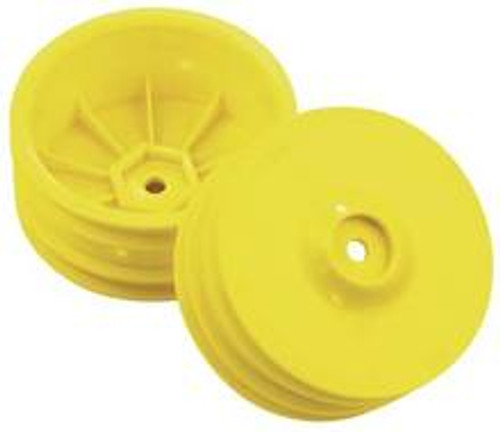 TEAM DURANGO Team Durango 4wd Front Wheel w/14mm Hex (Yellow) (2) (TD510016)