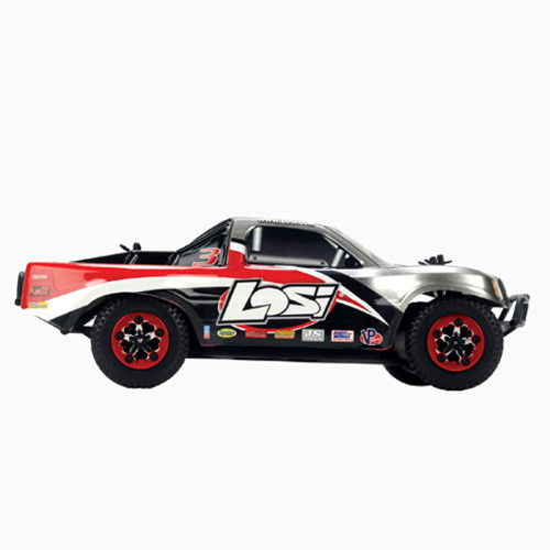 LOSI 1/24 4WD Short Course Truck RTR (Grey/Black/Red) (LOSB0240T3)