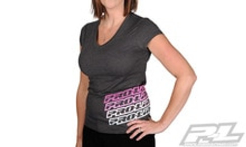 PROLINE Echo Heather Gray Girl T-Shirt - Small (PRO9998-01)