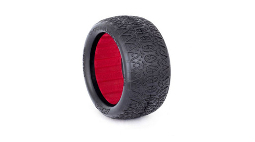 "AKA ""EVO"" Chain Link Rear Buggy Tires (2) (Clay)"