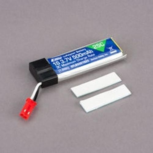 E-FLITE 1S 25C LiPo Battery Pack (3.7V/500mAh)