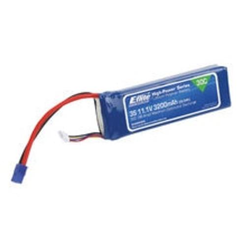 E-FLITE 3200mAh 3S 11.1V 30C LiPo, 12AWG EC3