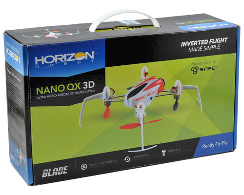 BLADE Nano QX 3D RTF Micro Electric Quadcopter w/2.4GHz Radio, Battery & Charger