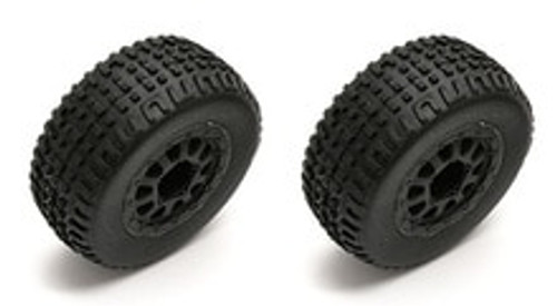 TEAM ASSOCIATED SC18 MOUNTED WHEEL/TIRE