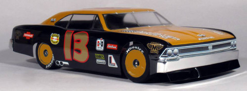 MCALLISTER 1966 CHEVELLE STREET STOCK CLEAR BODY - 1/10TH SCALE (MCA306)