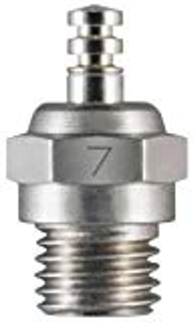 "O.S. SPEED No.7 Short Body Standard Glow Plug ""Medium Hot"""