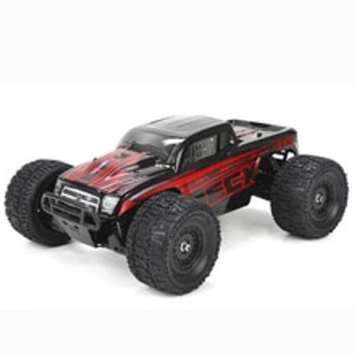 ECX Ruckus 1:18 4WD Monster Truck: Black/Red RTR